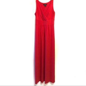 Lauren by Ralph Lauren Coral Pink Maxi Dress Sz. 4
